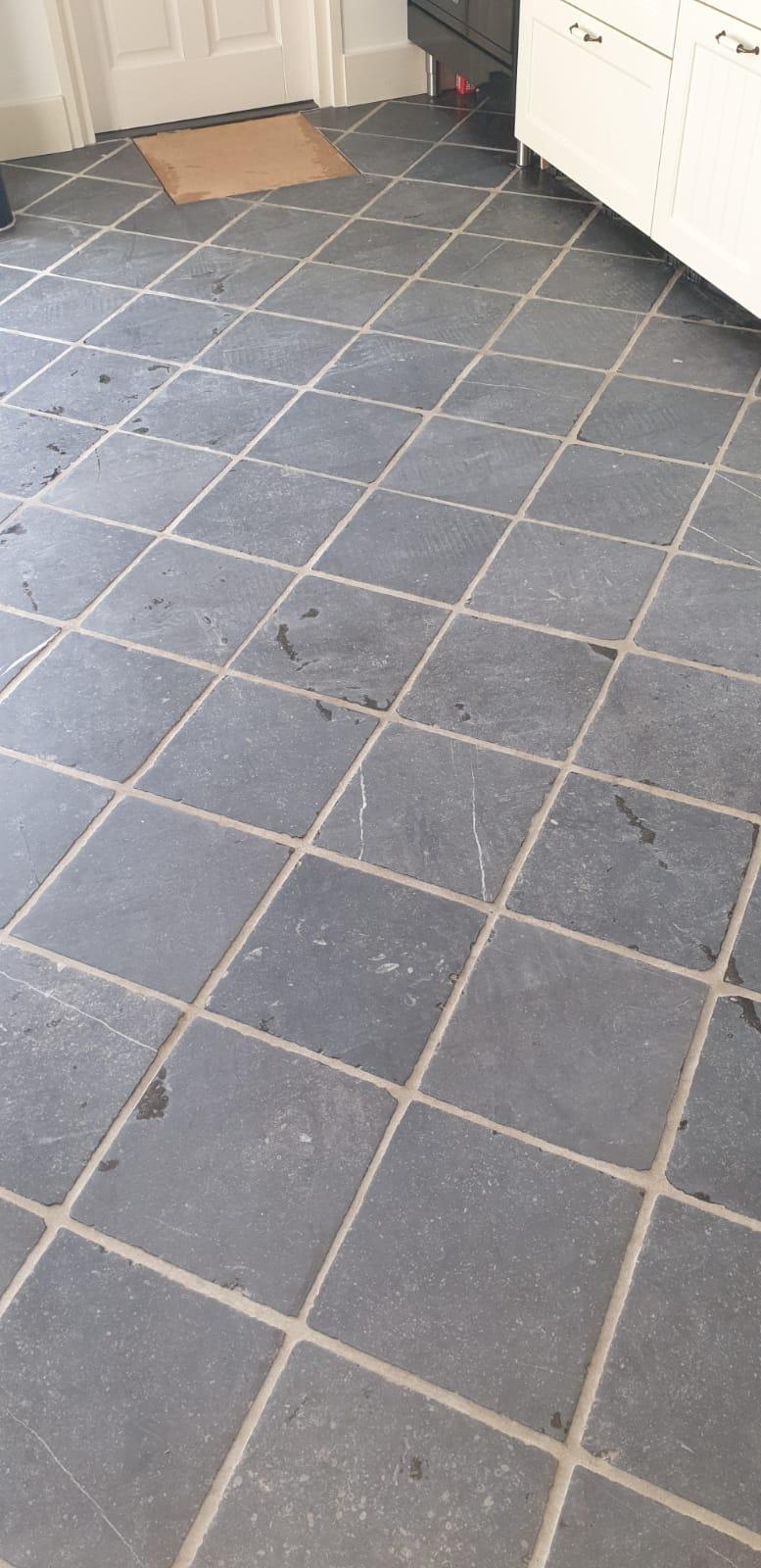 Voor Reiniging Belgisch hardsteen vloer keuken